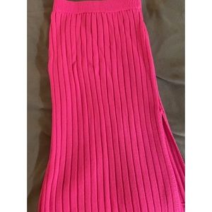 PrettyLittleThing Neon Pink Knit Skirt